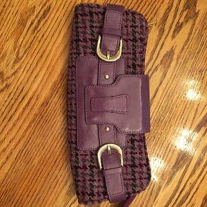 Banana Republic Purple Houndstooth Clutch